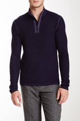 Elie Tahari Gavin Merino Wool Sweater Purple