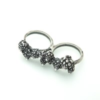 Eat Me Collection Romanesco Broccoli Double Finger Ring Sterling Silver