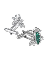 Jan Leslie Frog Cuff Links Green