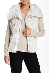 Fever Faux Fur Vest White
