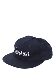 Maison Kitsune Parisien Wool Blend Flannel Baseball Hat