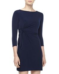 Ali Ro Side Twist Jersey Dress Class Navy