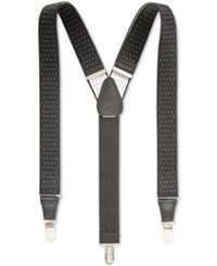 Club Room Men's Pin Dot Suspenders Only At Macy's Black