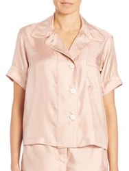Araks Shelby Silk Pajama Top Bare Dot