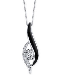 Sirena Diamond Jeans Pendant Necklace 1 3 Ct. T.W. In 14K White Gold