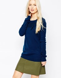 Shae Paloma Long Sleeve Cashmere Jumper With Embroidery Detail Nightcombo