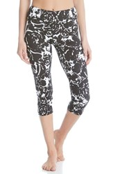 Karen Kane Women's 'Floral Stamp' Print Crop Active Pants