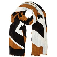 River Island Womens Brown Printed Long Scarf