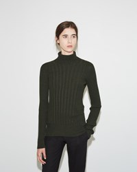 Maison Martin Margiela Ribbed Turtleneck Sweater Musk