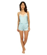 Josie Coquette Romper Heather Sky Warm White Lace Women's Jumpsuit And Rompers One Piece Blue