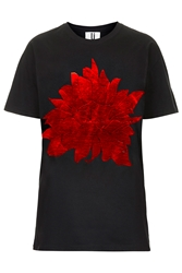 Spikey Foil Flower Tee By Unique Black