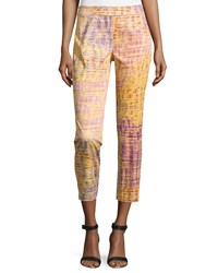 Natori Yari Printed Ankle Pants Yellow