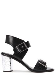 Mcq By Alexander Mcqueen Shackwell Black Leather Sandals