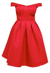 Chi Chi London Jade Cocktail Dress Party Dress Red
