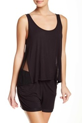 Joe's Jeans Mesh Trim Tank Black