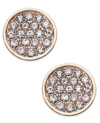 Kate Spade New York Rose Gold Toned Pave Disc Stud Earrings