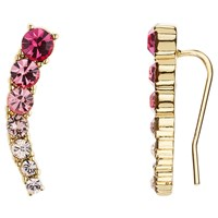 Kate Spade New York 12Ct Gold Plated Glass Stone Ear Pin Drop Earrings Tourmaline Pink