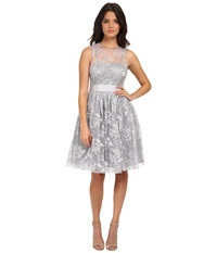 Donna Morgan Short Cocktail With Illusion Whisper Women's Dress White