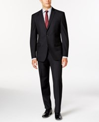 Andrew Marc New York Marc New York By Andrew Marc Slim Fit Black Tonal Suit