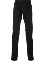 Z Zegna Stretch Straight Trousers Black