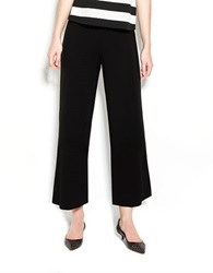 Pink Tartan High Waist Dress Pants Black