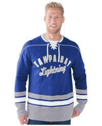 G3 Sports Men's Tampa Bay Lightning Defenseman Lace Up Sweatshirt