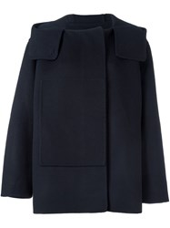 Sofie D'hoore 'Courtney' Single Breasted Coat Blue