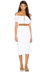 Wilt Off The Shoulder Peasant Dress White