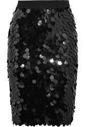 Sonia Rykiel Sequined Wool Skirt Black
