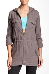 Solow Linen Army Jacket Gray