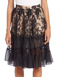 Zimmermann Karmic Lace Skirt Black