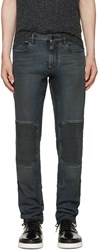 Belstaff Black Coated Overdyed Jeans