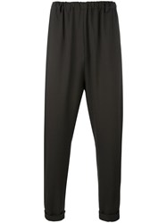 Lucio Vanotti Loose Fit Tapered Trousers Green
