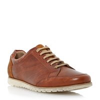 Dune Lace Up Casual Trainers Tan