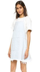 Sandy Liang Ella Apron Dress Light Blue Denim