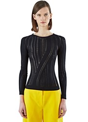 Acne Studios Marcy Mouline Ribbed Sweater Black