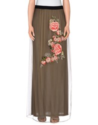 Atos Lombardini Skirts Long Skirts Women Khaki