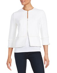 T Tahari Nalia Textured Blazer Antique