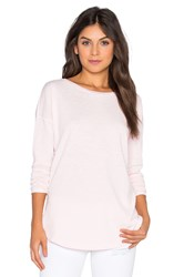 Heather Round Hem Top Pink