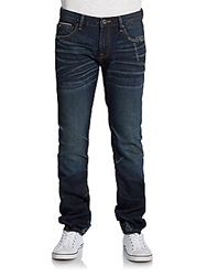 Cult Of Individuality Rocker Slim Fit Distressed Jeans Dark Blue