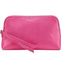 Aspinal Of London Essential Leather Cosmetic Case Raspberry
