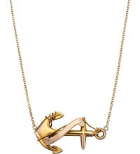 Annina Vogel 9Ct Yellow Gold Anchor Necklace