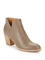 Dolce Vita Janae Perforated Leather Ankle Boots Natural Suede