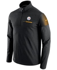 Nike Men's Pittsburgh Steelers Elite Coaches Quarter Zip Pullover Black