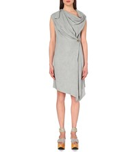 Anglomania Asymmetric Woven Dress Grey Melange