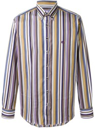 Etro Striped Button Down Shirt Pink And Purple