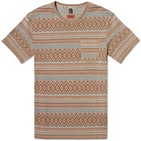 Missoni Ethnic Weave Pocket Tee Brown Multi
