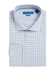 Vince Camuto Checked Dress Shirt Blue