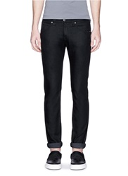 Armani Collezioni Slim Fit Stretch Denim Jeans Black