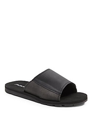 Saks Fifth Avenue Faux Leather Sandals Black